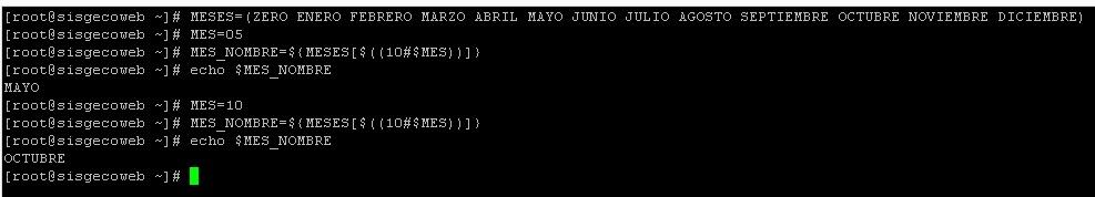 meses bash shell scripting